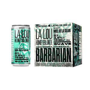 La Lou Honey Blonde Lata (269ml) Pack x 4